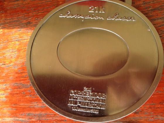 Corregidor International Half-Marathon 21K finisher medal