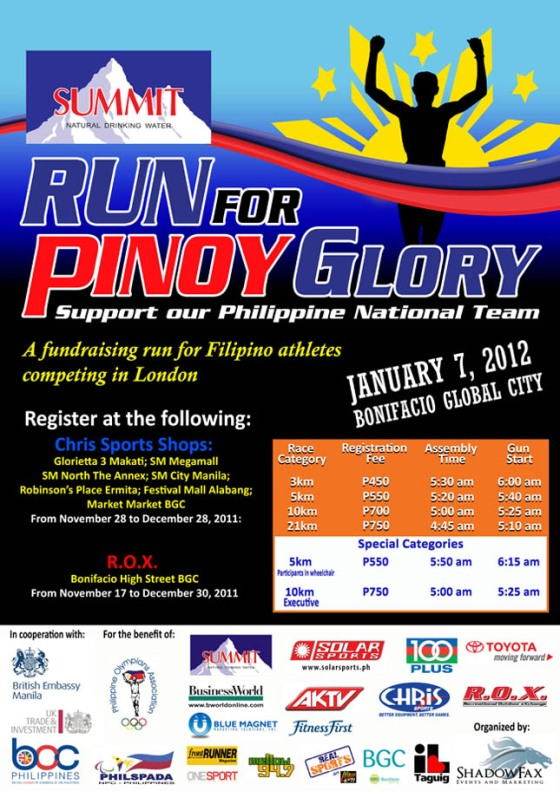 Run for Pinoy Glory poster