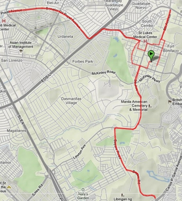 Natgeo Earth Day Run 2012 21km route