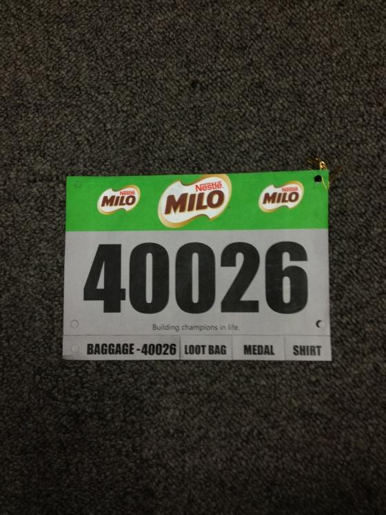 Milo Marathon racing bib